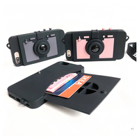 Fashion Cool 3D Retro Camera Wallet Holder Phone Case For IPhone 8 7 X 6 6s