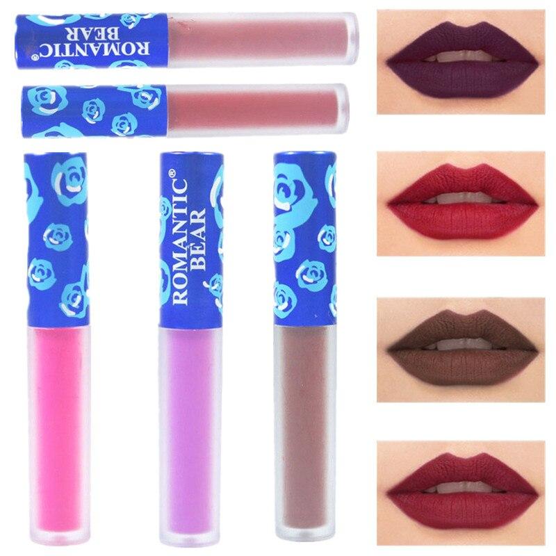Matte Lipstick Waterproof Makeup Lip Gloss Liquid Lip Stick Top Quality Long Lasting Lipgloss Sexy Beauty Women Cosmetics Lips