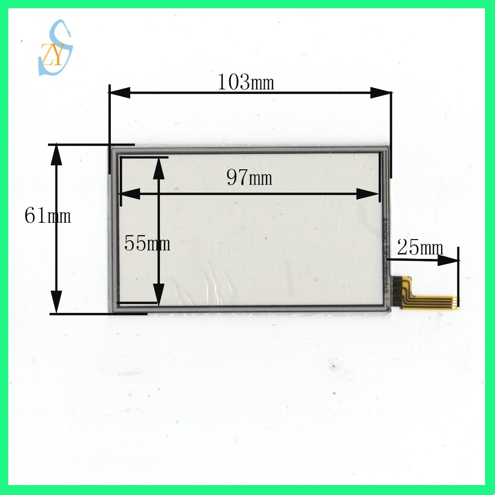 ZhiYuSun 103mm*61mm 4.3inch 4 wire resistive touch panel for MP5 Car DVD,  103*61 GPS Navigator screen glass for T8 compatible-in Tablet LCDs & Panels  from ...