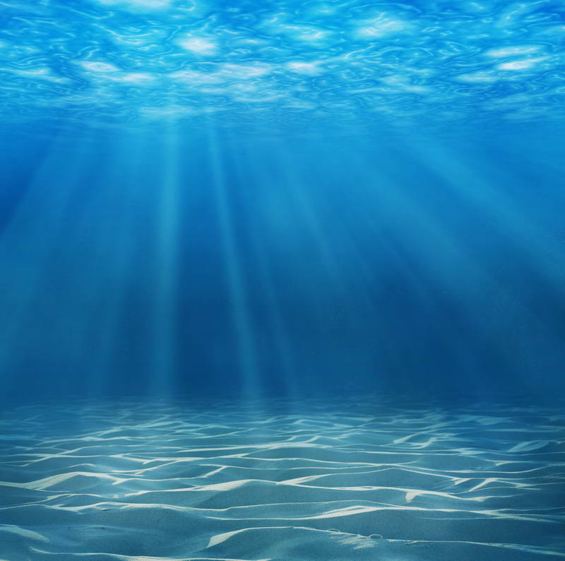 Blue water under the se fall light backdrop vinyl cloth high quality computer print wall - Water background images ...
