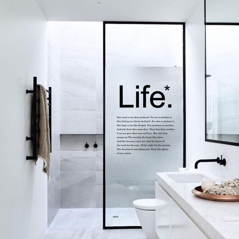 Wide 45//60//90cm Static Cling Window Film Frosted Privacy Glass Window Sticker No-Glue Waterproof Kiss The Rain Bedroom Bathroom,45/×50CM