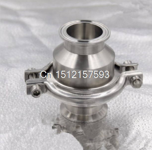 1pcs Triclamp Sanitary stainless steel Clamp check valve size: 2/51mm SS304 1 25 sanitary stainless steel ss304 y type filter strainer f beer dairy pharmaceutical beverag chemical industry