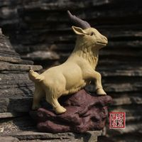 China boutique collection yixing red stoneware Tea pet Ornaments goat