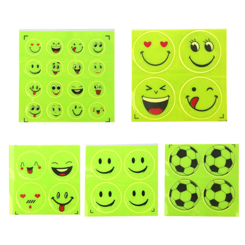 Funny Reflective Bicycle Sticker Smiling Face Pattern Safety Night Riding DecalFunny Reflective Bicycle Sticker Smiling Face Pattern Safety Night Riding Decal