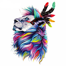 Feather Lions Patches 18*27cm Iron On For Clothing A-level Washable Stickers Christmas Gift Girls Boys