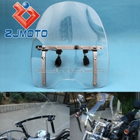 Universal Motorcycle Windshield Windscreen For Yamaha V Max 1200 V Star 650 Custom Stryker Cruisers Standards