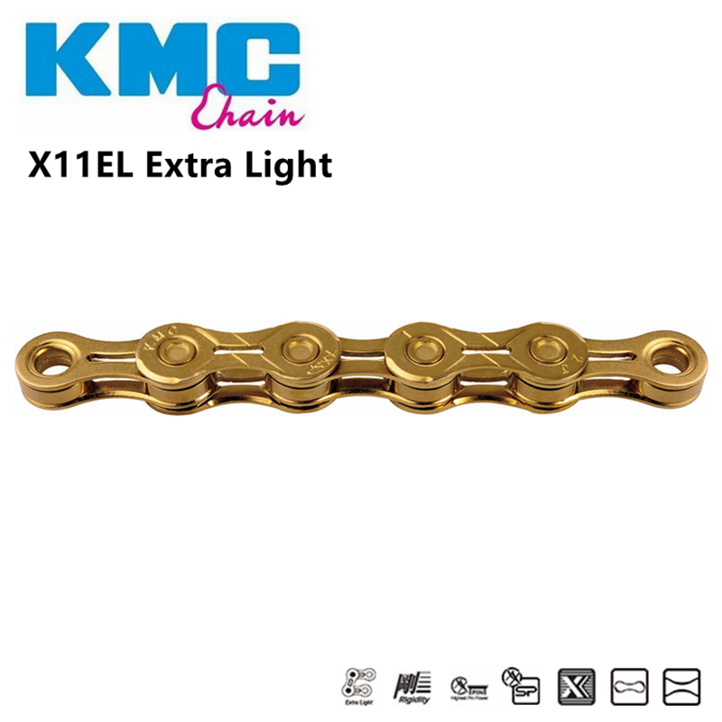 KMC X11-SL//EL//93 Bike Chain 11S Gold for MTB//Road Bike 11 speed 116 Links