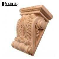 RUNBAZEF European Wood Door Carving Applique Corbel Aisle Decoration Rome Stigma Vintage Home Decor Artesanato Craft Figurine