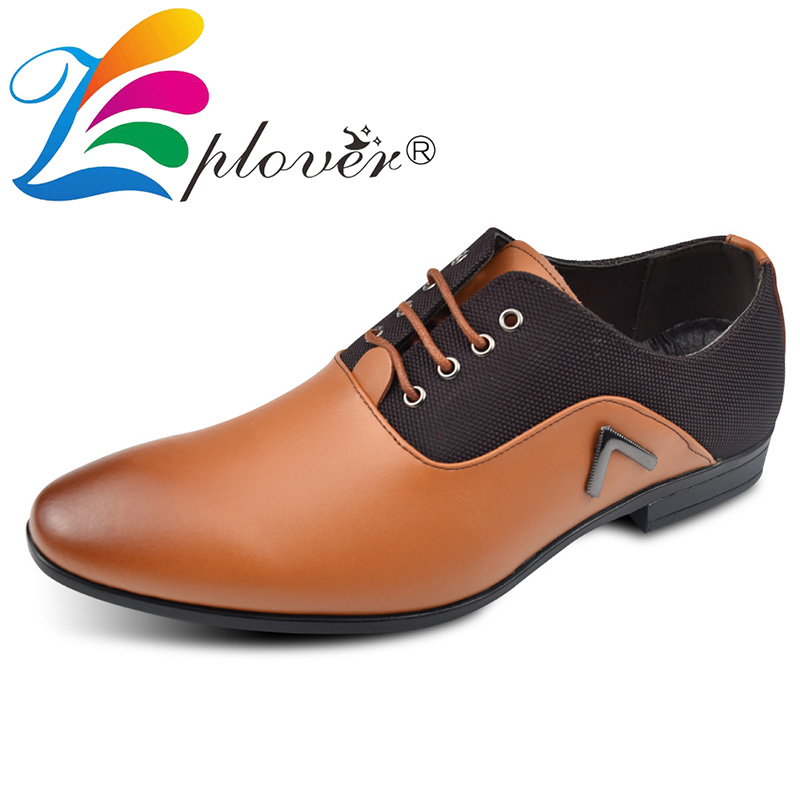 Mens Formal Shoes Pointed Toe Genuine Leather Business Men Shoes Lace up Flats Wedding Dress Shoes