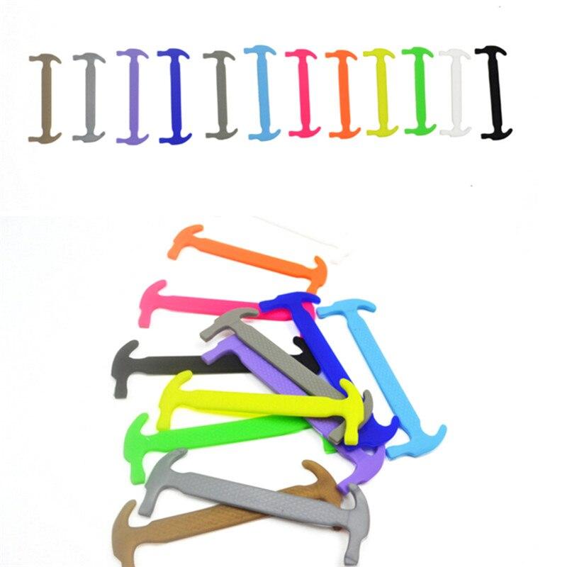 16 Teile/satz Erwachsene Faul Elastische Keine Krawatte Schnürsenkel Freies Binden Silikon Schnürsenkel Einfach Schnürsenkel Großhandel