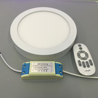 24W Round Surface Mounted Panel Light Intelligent Remote Control Color Temperature Dimming Panel Light Kitchen Bathroom