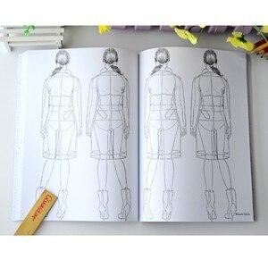 Image 5 - 패션 소녀 성인을위한 색칠하기 책 antistress 릴리프 스트레스 낙서 그림 그리기 책 libros de pintar para adultos