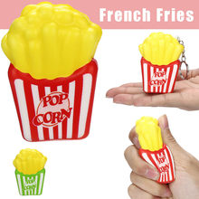 cute French Fries Toys Slow Rising Cream Scented Keychain Stress Relief Toys Elastic Environmentally Adorable French Fries Toys(China)
