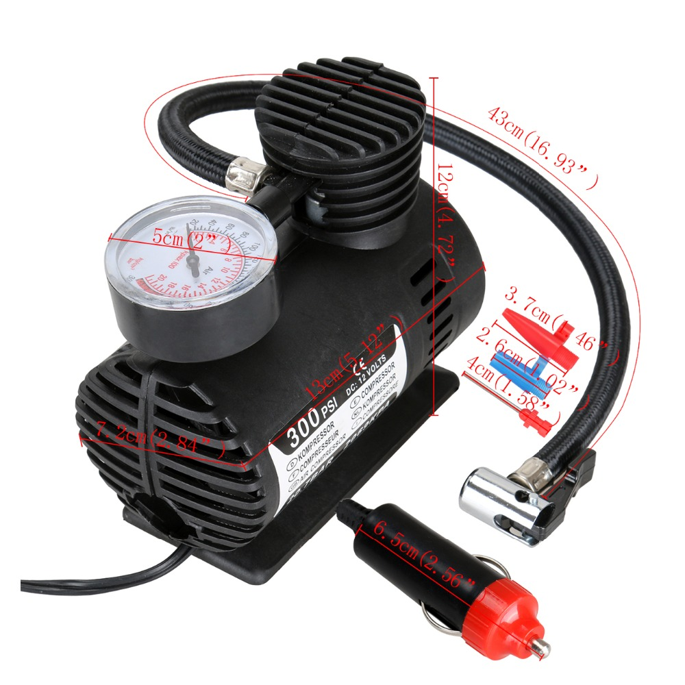 Cooperative Portable Car Inflator Pump 12v Car Auto Electric Air Compressor Tire Inflator Pump For Car Motorcycles Bicycles Inflatable Pump Automobiles & Motorcycles