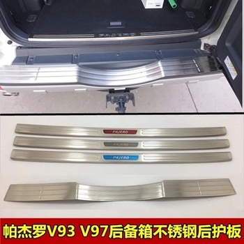 High quality stainless steel Internal external Rear bumper Protector Sill For Mitsubishi Pajero V93 V97 2016-2018 Car styling