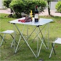 Обновления издание складной стол и стул, стол из алюминиевого сплава, столы, портативный Открытый Наборы Мебели, обеденный стол 1 + 2