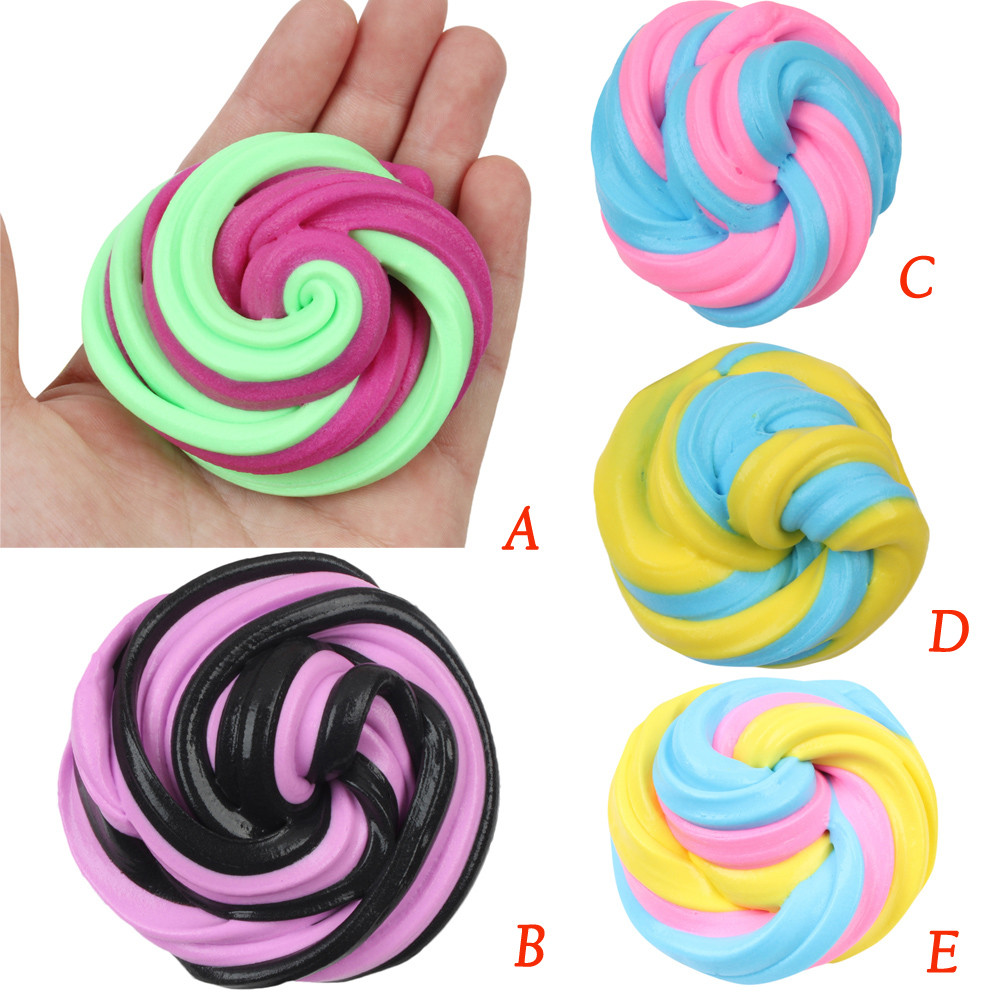 2018 New Arrival Beautiful Color Cloud Slime Squishy Scented Stress Kids Clay Toy Funny Squishies Oyuncak Dropshipping Curing Cough And Facilitating Expectoration And Relieving Hoarseness Gags & Practical Jokes Novelty & Gag Toys