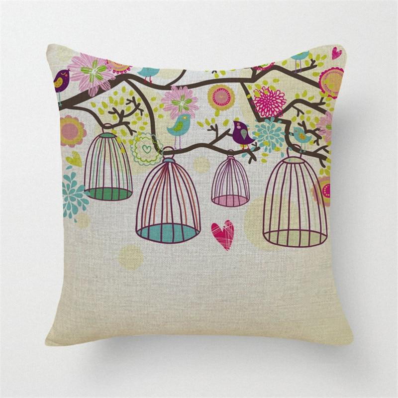 Quirky Throw Pillows : High Quality Home Decorative Pillow Bird Series Printed Throw Pillows Car Home Decor Cushion ...