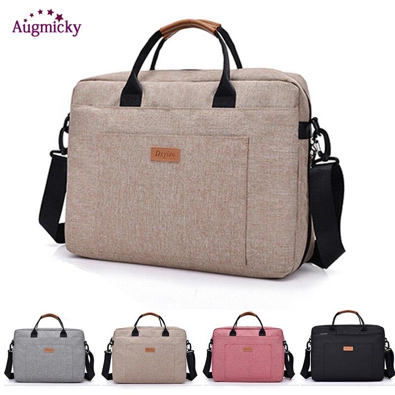 New Men Handbag Office Travel Shoulder Messenge Women's Laptop Bag Business Trip File Package Notebook Bag For 13.3