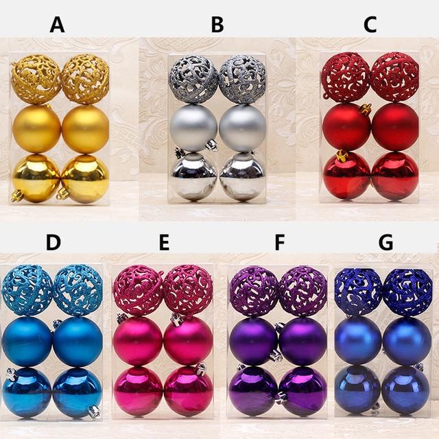 e471cfe6278 6 unid set nuevas bolas huecas de Navidad grandes bolas decorativas de árbol  de Navidad