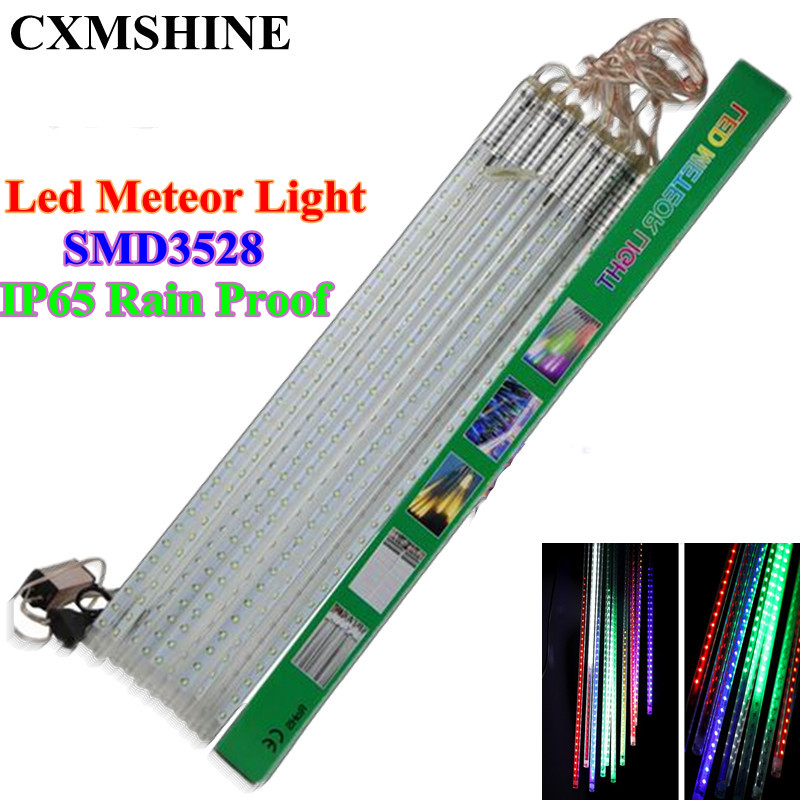 10pcs/set Waterproof LED christmas lights SMD3528 Snowfall Tube 50cm Meteor Rain Led Tube Light for christmas outdoor light