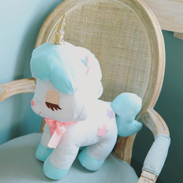 Fashion Unicorn Doll Stuffed & Plush Animal Toys For Girls Birthday Gifts Stress Relief Toys Anti-stress Cushion Brinquedos