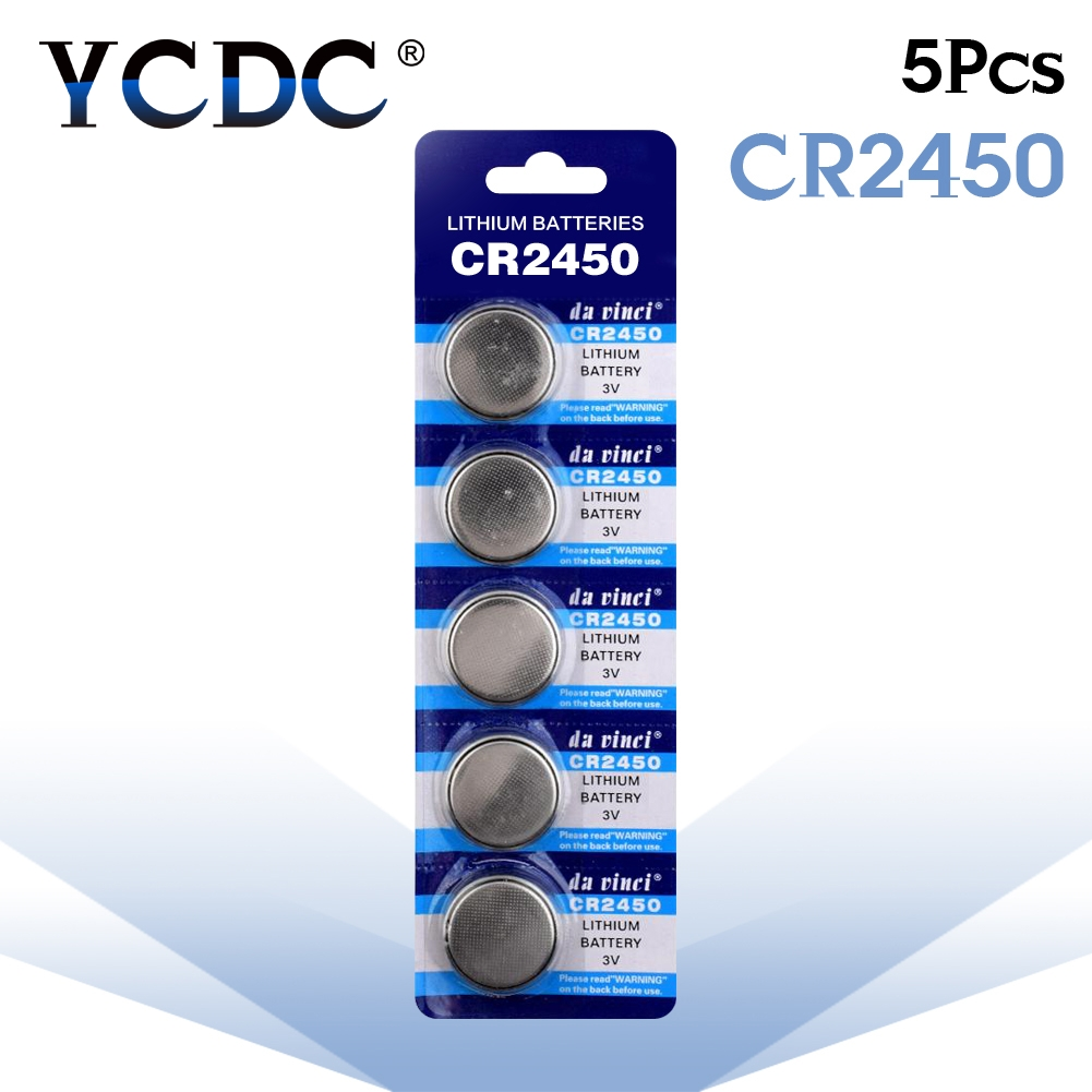 5pcs/pack CR2450 Button Batteries KCR2450 5029LC LM2450 Cell Coin Lithium Battery 3V CR 2450 For Watch Electronic Toy Remote стоимость