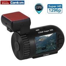 Conkim Мини 0805 P Автомобилей Даш Камеры 1296 P 30fps H.264 WDR GPS Видеорегистратор Регистратор Датчик Парковки Низкого Напряжения защита Конденсатора