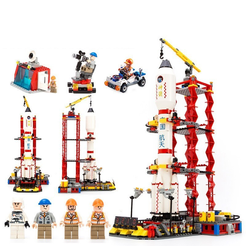 GUDI Spaceport Ruang Seri Shuttle Blok Bangunan Batu Bata Kompatibel - Mainan bangunan dan konstruksi - Foto 2