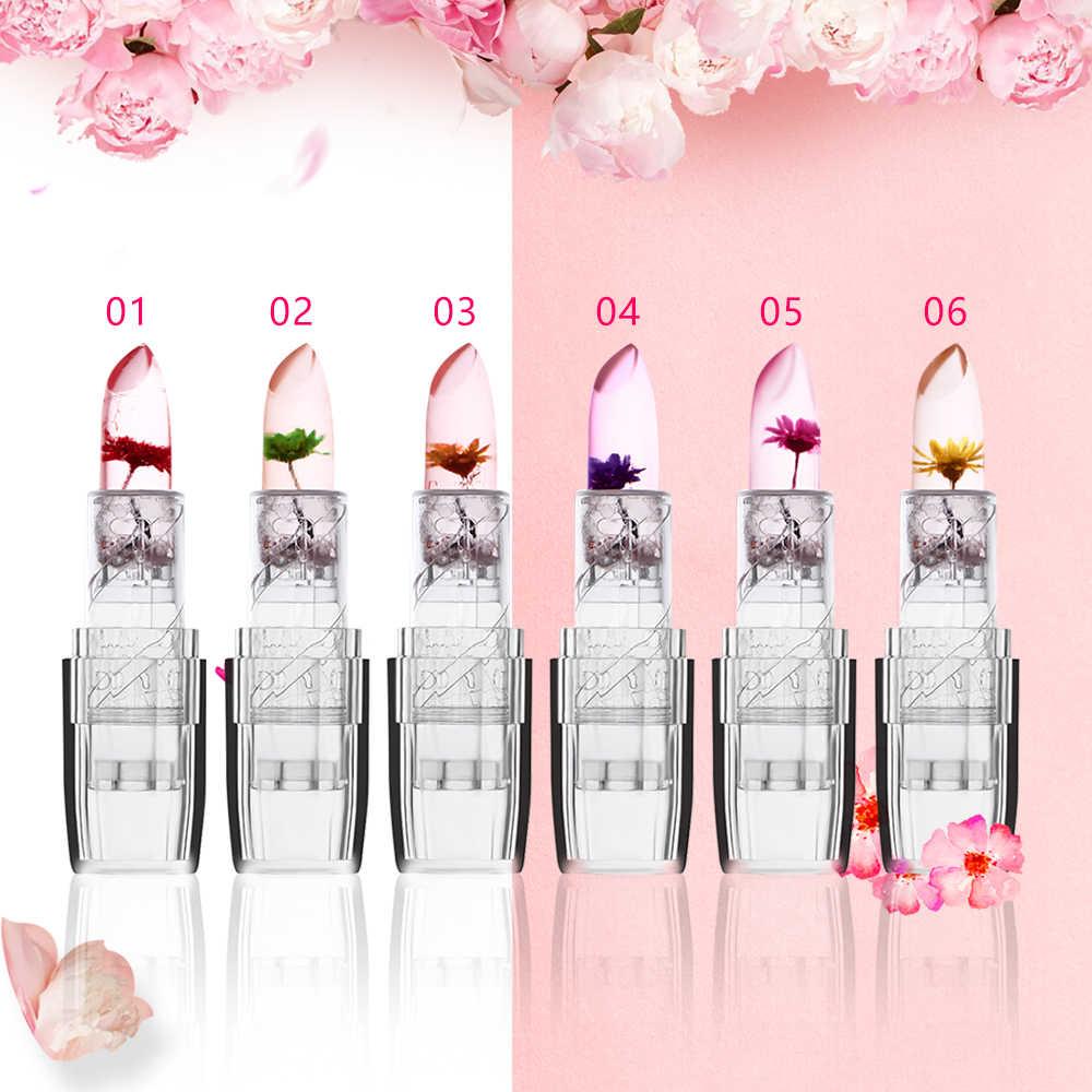 1Pcs Transparan Magic Lipstick Pelembab Bibir Tahan Lama Suhu Berubah Warna Lipstik Kecantikan Alat