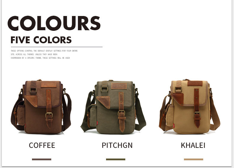Topdudes.com - Military Vintage Multifunctional Canvas Crossbody Messenger Bag