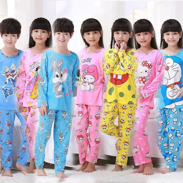 faa105a715 Ropa de dormir para niños juegos de pijamas de dibujos animados para bebés