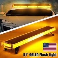 Smuxi 51 светодио дный 96 Светодиодный автомобильный стробоскоп свет Янтарный Маяк противотумансветодио дный ный светодиодный Предупреждение