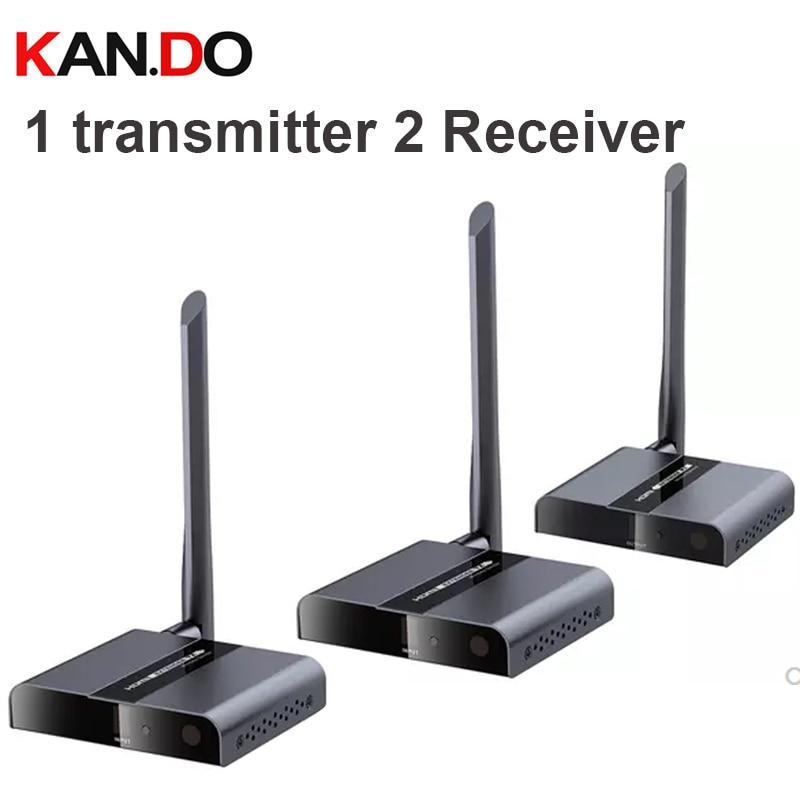 388M 50Meter 1TX + 2RX Wireless HDbitT HDMI 1080P Extender Transmitter & Receiver Wireless HDMI Transmitter Reciver Kit