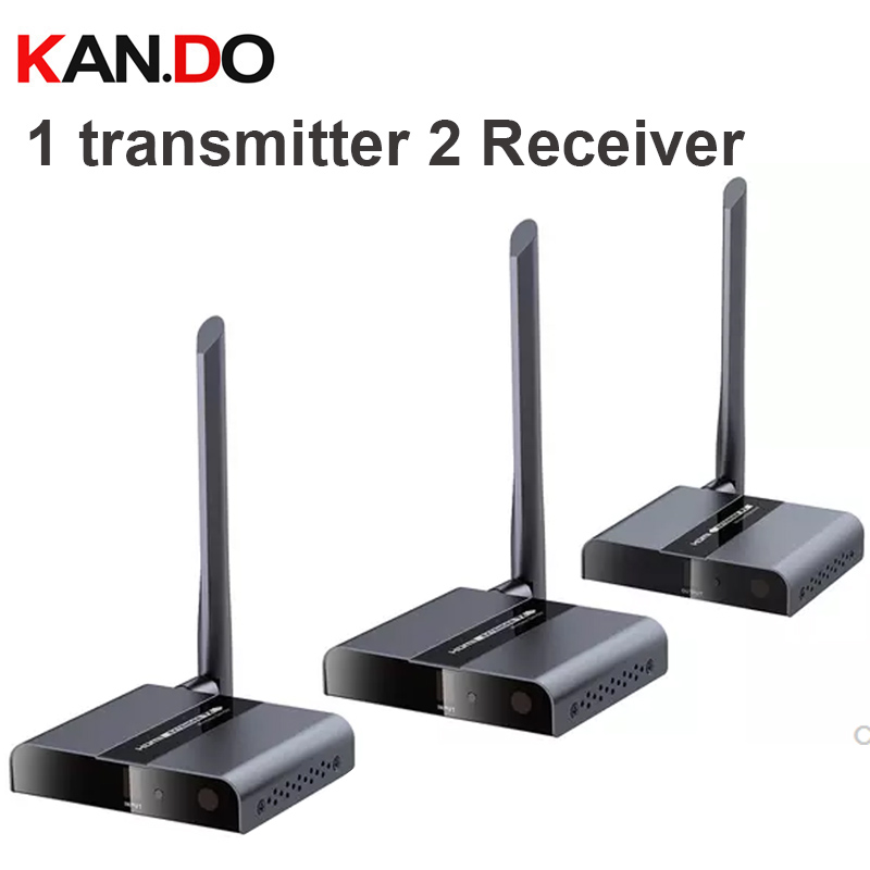 388M 50Meter 1TX + 2RX Wireless HDbitT HDMI 1080P Extender Transmitter & Receiver Wireless HDMI Transmitter Reciver Kit