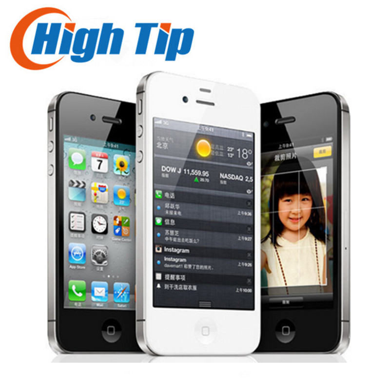 Fabrik Setzte Ursprünglichen Apple iphone 4 S 8 GB 16 GB 32 GB 64 GB handy Dual core Wi-Fi GPS 8.0MP 3,5