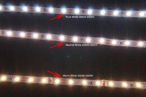 Image 5 - FAI DA TE LED U HOME di Alta CRI RA 90 + LED Luci di Striscia 2835SMD 12V DC 5M 300leds Nonwaterproof illuminazione A LED per le Vacanze Camera Cucina
