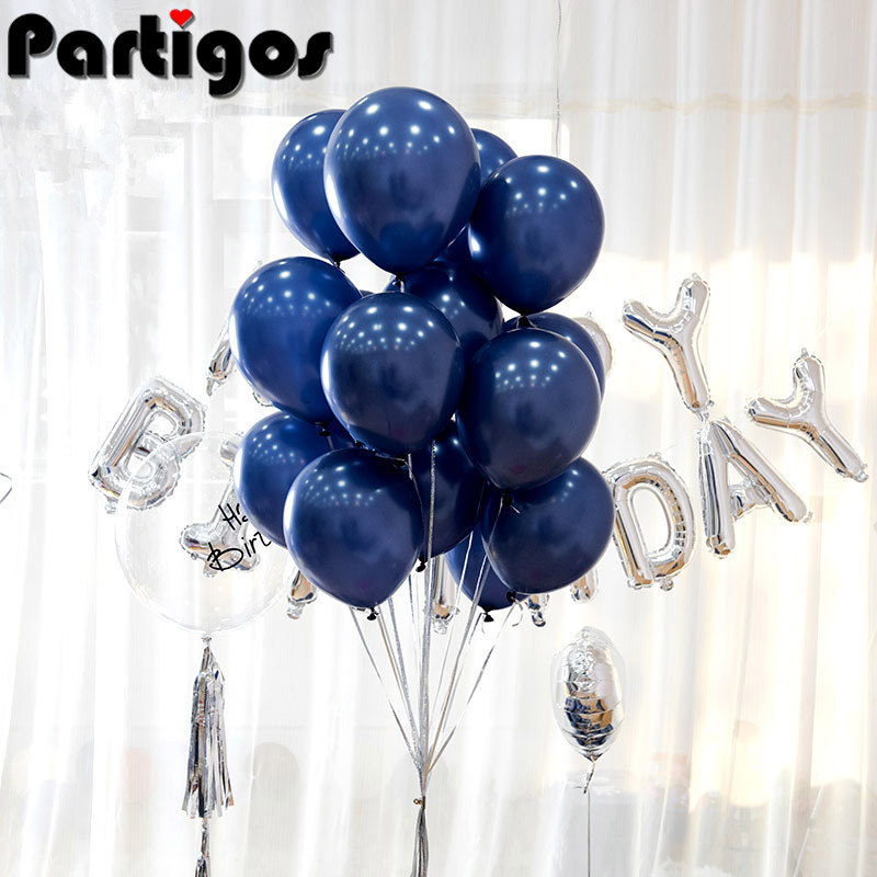 "Macaroon Blueberry Light Blue Round 12/"" Latex Balloons 100pk Party Decorations"