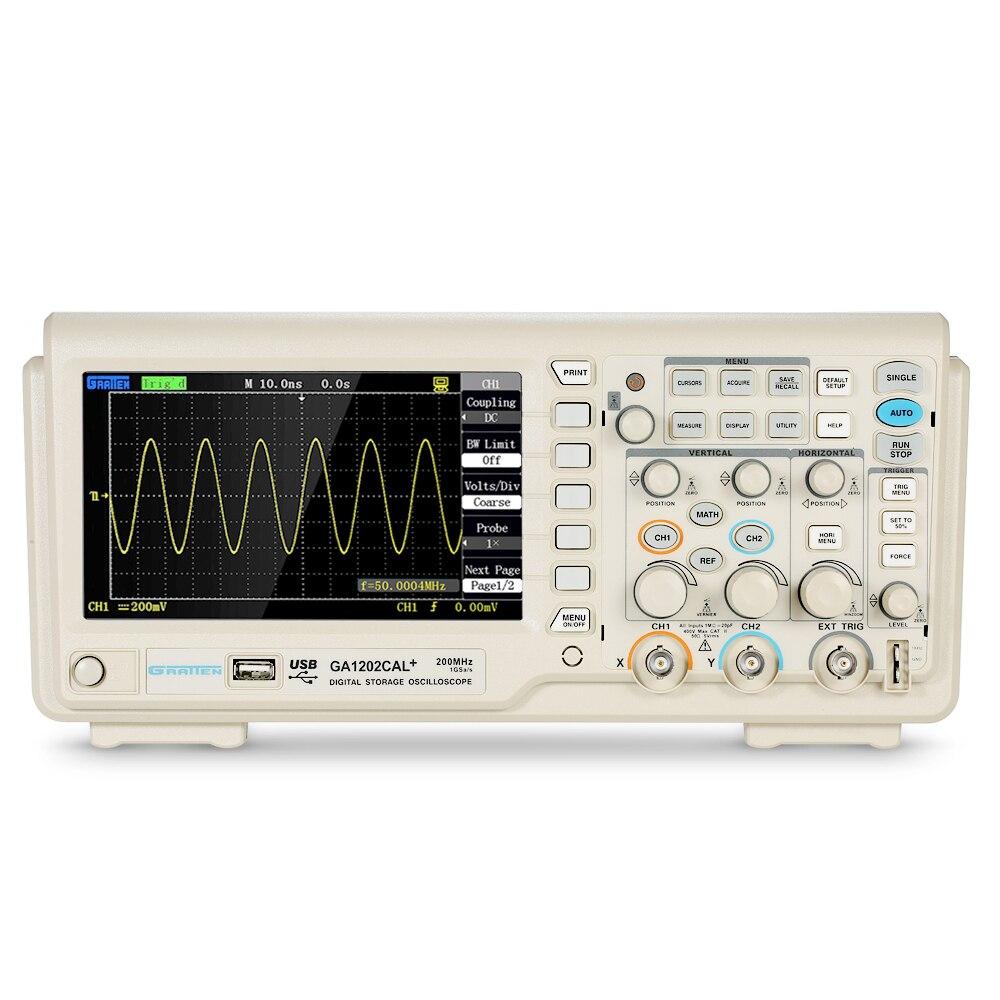 Digital Oscilloscope Scope Meter 2CH 200MHz Bandwidth 8-bit logic analyzer 1GSa/s Sampling Rate GA1202CAL+232/USB owon mso mso8102t logic analyzer oscilloscope 200mhz 2gs s 8 color lcd fft 1 7