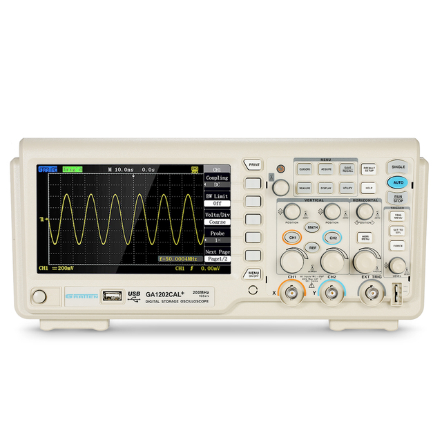 Special Offers Digital Oscilloscope Scope Meter 2CH 200MHz Bandwidth 8-bit logic analyzer 1GSa/s Sampling Rate GA1202CAL+232/USB