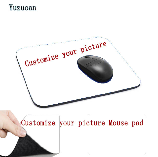 Yuzuoan DIY Your image Mouse Pad Large Pad for Macbook Laptop Mouse Not