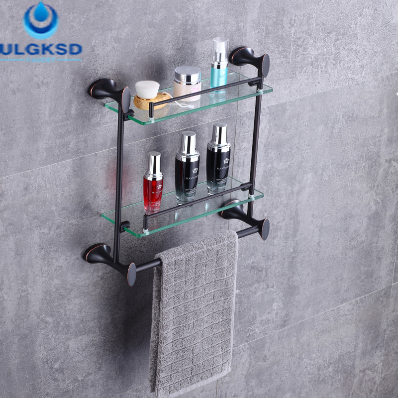 Ulgksd Bath Towel Holders Towel Shelf Bathroom Accessories Oil Rubbed Bronze Wall Mounted allen roth brinkley handsome oil rubbed bronze metal toothbrush holder
