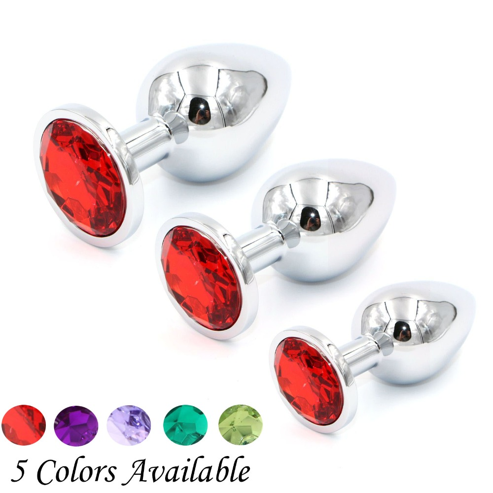 YEMA 3 Pcs/<font><b>Set</b></font> Stainless Steel Big <font><b>Anal</b></font> Plug Butt Plug Metal <font><b>Anal</b></font> & 10 Mode Vibrator <font><b>Sex</b></font> <font><b>Toys</b></font> For Men Gay <font><b>Sex</b></font> Products For Women image