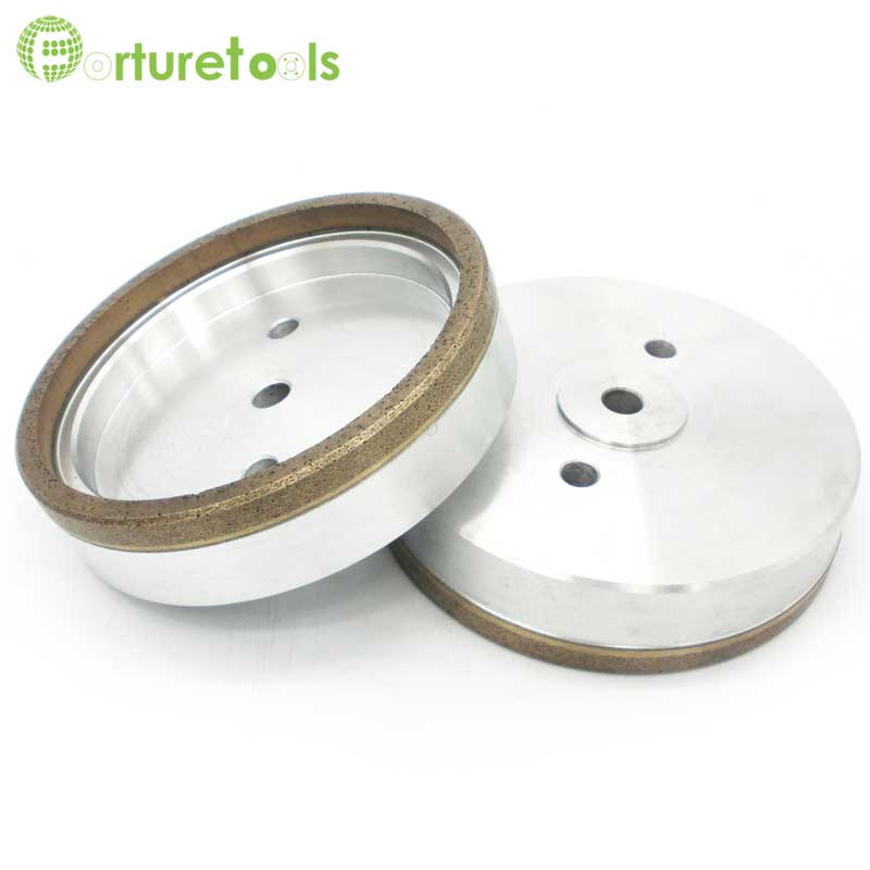 4 inch 6 inch Straight cup diamond grinding wheel for glass edger straight line double edging beveling machine M009 1 piece electroplated diamond coated abrasive grinding wheel of round n straight edge for 3 12mm glass shape edging machine tz74