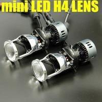 Dianshi 12v New coming 35w MINI led H4 high low beam led headlight h4 3 lens projector