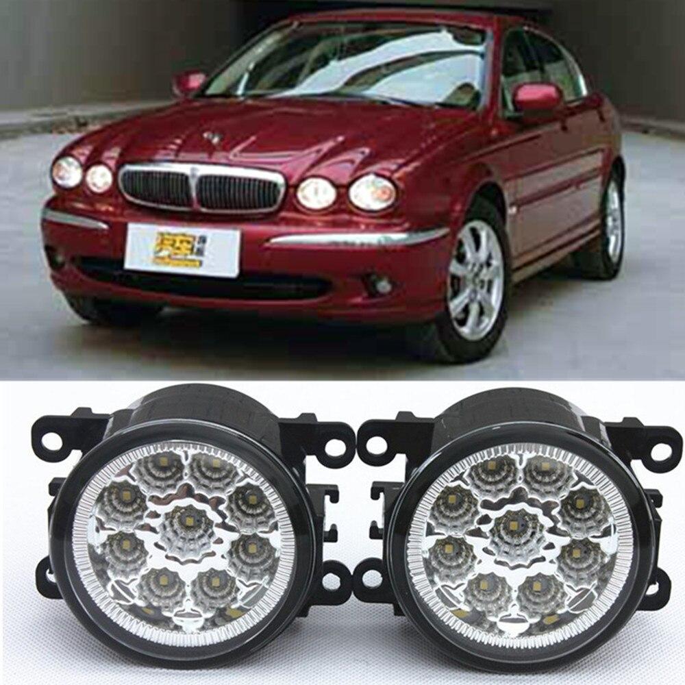 For JAGUAR X-Type CF1 Saloon 2001-2009 Car-Styling Led Light-Emitting Diodes DRL Fog lamps 1set for nissan x trail t30 2001 2006 car styling led light emitting diodes drl fog lamps