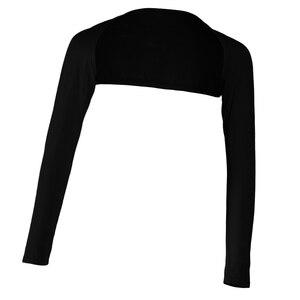 Image 2 - אופנה נשים של רך חתיכה אחת ארוך שרוולים אלסטי מודאלי זרוע חם כיסוי משיכת הכתפיים חיג אב חולצות בגדים מוסלמיים