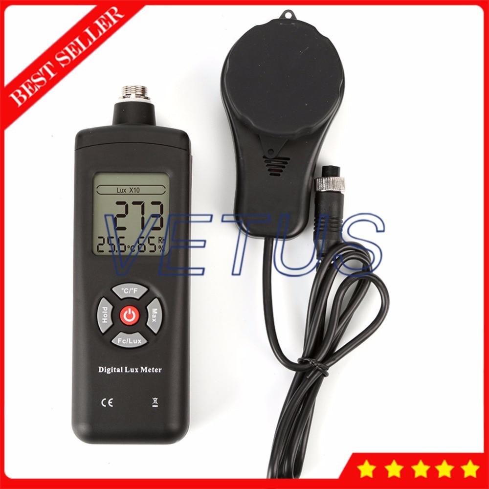 Medidor de lux digital multifuncional de lux/ómetro de alta precisi/ón 0.1-200000lux Metro Lux de MT-30