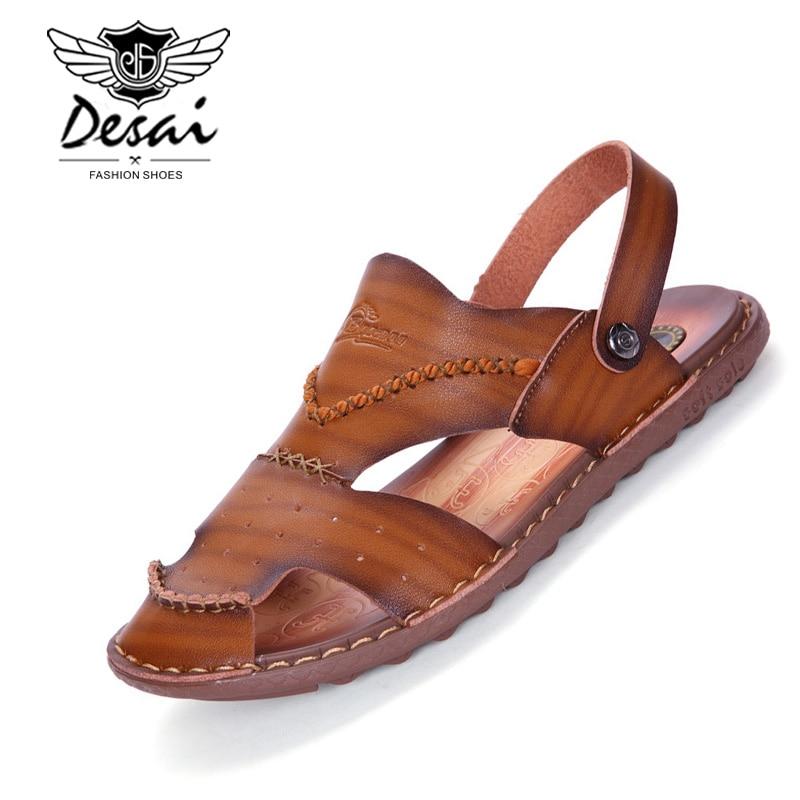 Men's Sandals Super-fiber Beach Shoes Men's Breathable Outdoor Leisure Non-slip Dual-use Summer Footwear Shoes Man Plus Size