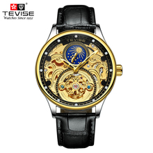 TEVISE Luxury Tourbillon Automatic Mechanical Watches Men Se